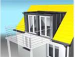planung dachausbau bei dachgaube mit balkon. Black Bedroom Furniture Sets. Home Design Ideas